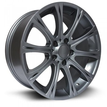 RTX Wheels Hamburg, Gris GunMetal/Gun Metal, 17X8, 5x120 ( offset/deport 35), 72.6 BMW