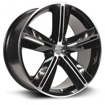 RTX Wheels Sms, Noir Machine/Machine Black, 16X7, 5x114.3 ( offset/deport 40), 73.1