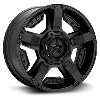 XD Series Rock Star II, Noir Satin/Black Satin, 17X8, 5x114.3/127 ( offset/deport 10), 72.6