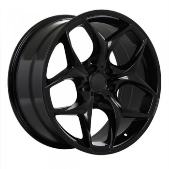 Dai Alloys Replica 19, Noir lustré/Gloss Black, 20X10.5, 5x120 (offset/deport 40), 74.1