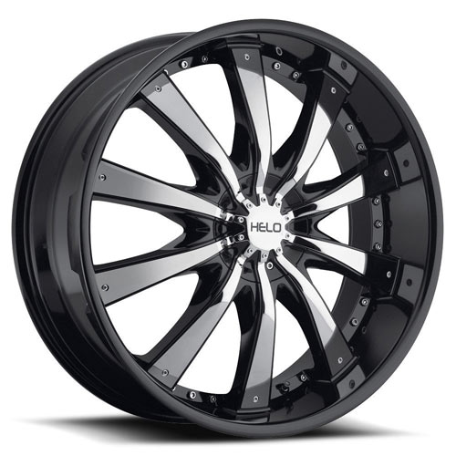 RTX Wheels - He875 - Noir Insertion Chrome