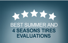 Best summer and four seasons tires evaluations
