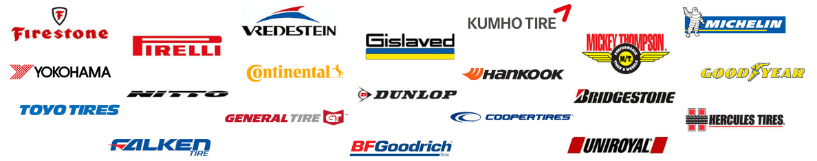 Find the tires you're looking for among great brands like Continental, Michelin, Toyo, Bidgestone and many more.