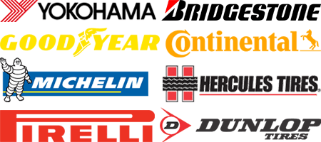Tire brands available